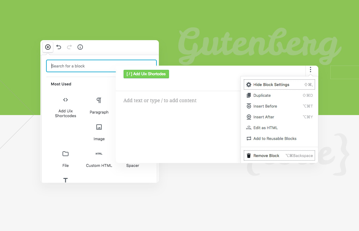 Some Special Layout Skills With Gutenberg WordPress Editor And Uix Shortcodes