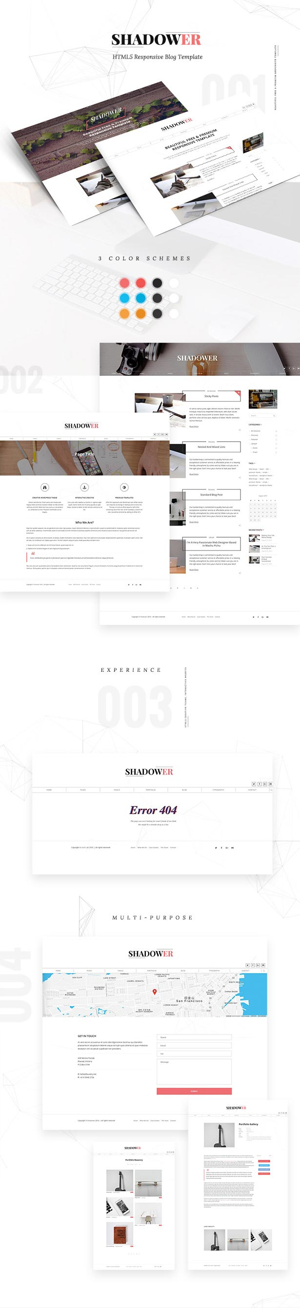Shadower - HTML5 Responsive Blog Template - 1