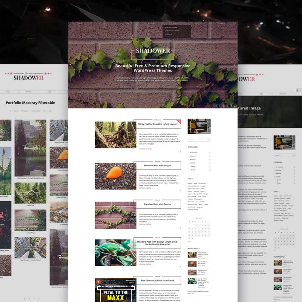 Shadower Pro – Multi-purpose WordPress Blog Theme