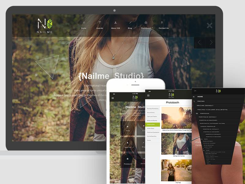 Nailme - Multiple Layout WordPress Portfolio Theme - Build your full no-refresh website.